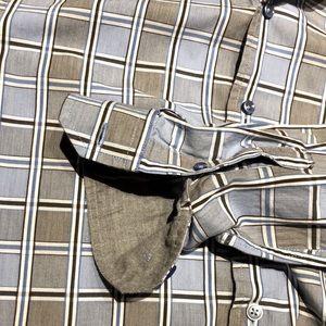 Tasso Elba Plaid Dress Shirt Medium